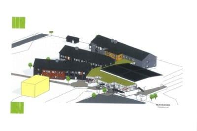Teckning av nya skolan