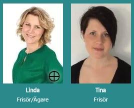 Linda och Tina som sköter salongen.