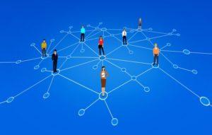 Stjärndiagram med människor som noder.